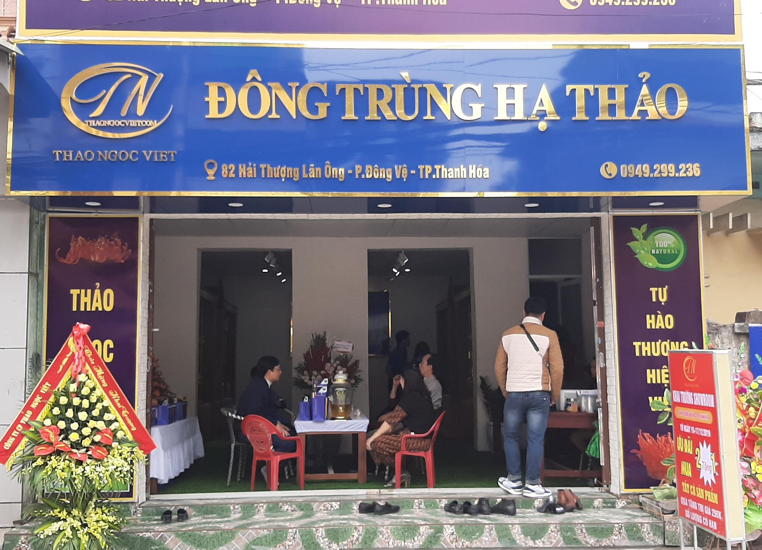 Showroom Đông trùng hạ thảo tại Thanh Hóa